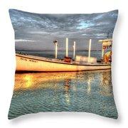 Crabbing Boat Beth Amy - Smith Island, Maryland Throw Pillow