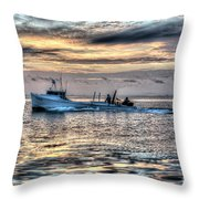 Crabbing Boat Miss Maxine - Smith Island Maryland Throw Pillow