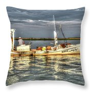 Crabbing Boat Scotty Boy - Smith Island, Maryland Throw Pillow