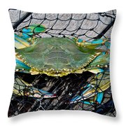 Crabby About This Throw Pillow