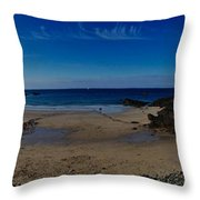 Crabby Bay Throw Pillow
