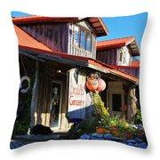 Crabpot Grocery Throw Pillow