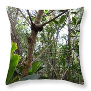 Crabs On A Tree Throw Pillow