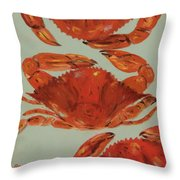 Crabs Tonight Throw Pillow