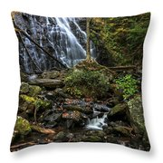 Crabtree Falls In Autumn Throw Pillow
