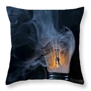 Cracked Bulb Throw Pillow