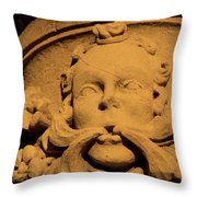 Cracked God Throw Pillow