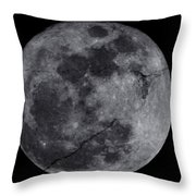 Cracked Moon Throw Pillow