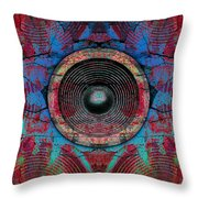 Cracked Music Speaker 3 Throw Pillow