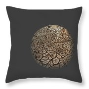 Cracked Sphere. Throw Pillow