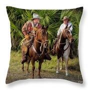 Cracker Cowboys Throw Pillow