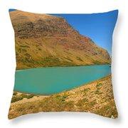 Cracker Lake Many Glacier Panorama Throw Pillow