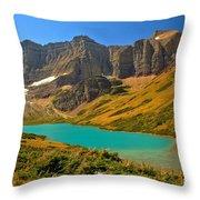 Cracker Lake Valley Throw Pillow