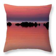 Cracking Dawn Throw Pillow