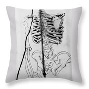 Crackling Bones Throw Pillow