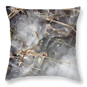 Crackling Ice I Throw Pillow