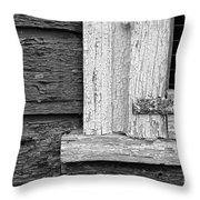 Cracks Of Time Bw  Throw Pillow
