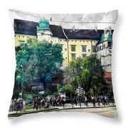 Cracow Art 2 Wawel Throw Pillow