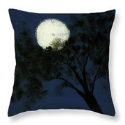 Cradling The Moon Throw Pillow