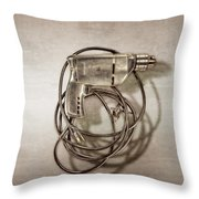 Craftsman Drill Motor Back Side Throw Pillow