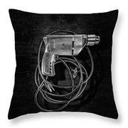 Craftsman Drill Motor Bs Bw Throw Pillow