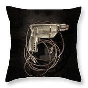 Craftsman Drill Motor Bs On Black Throw Pillow