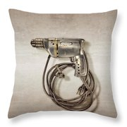 Craftsman Drill Motor Left Side Throw Pillow