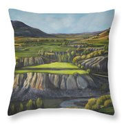Craig's Course Throw Pillow