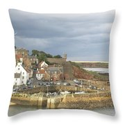 Crail Harbour Throw Pillow