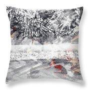 Cranberries In Winter Throw Pillow