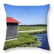 Cranberry Bogs Throw Pillow