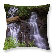 Cranberry Falls. Throw Pillow by Itai Minovitz