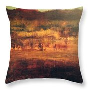 Cranberry Fields In November Throw Pillow