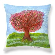 Cranberry Melody Throw Pillow