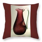 Cranberry Pitcher Throw Pillow
