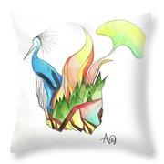 Crane Abstract Throw Pillow