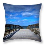 Crane Beach Throw Pillow