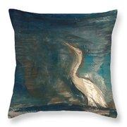 Crane Throw Pillow by Gregory Dallum