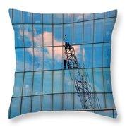 Crane Reflection - Atlantic City Throw Pillow