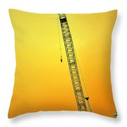 Crane With Towers Throw Pillow