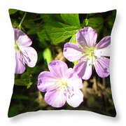 Cranesbill Throw Pillow
