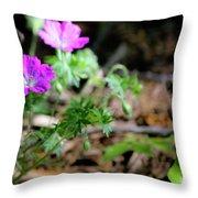 Cranesbill Throw Pillow