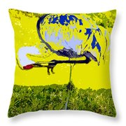 Craning Throw Pillow