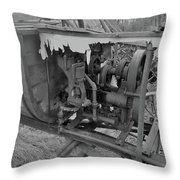 Crank Wood Bw Throw Pillow