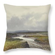 Cranmere Pool, Dartmoor Throw Pillow