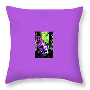 Crape Myrtles Abstract Throw Pillow