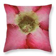 Craquelure Pink Flower Throw Pillow