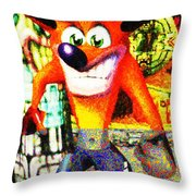Crash Bandicoot Throw Pillow