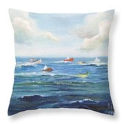 Crashboat Beach Throw Pillow