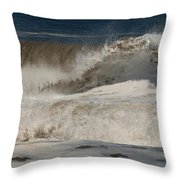 Crashing - Jersey Shore Throw Pillow